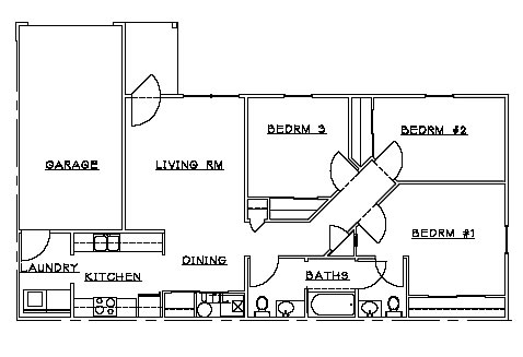 Available Two And Three Bedroon Floor Plans